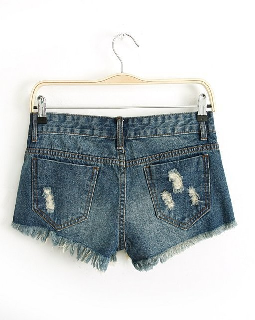 Hot Holes Denim Shorts Pants -