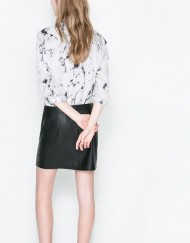Ink Prints Casual Blouse leisure Shirt