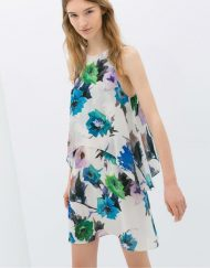 Layered Printed Chiffon Dress