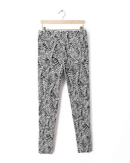 Leaves Prints Casual Pants -
