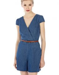 Leisure Denim Short Jumpsuits with Belts ASOS Inspired Pants Trousers -