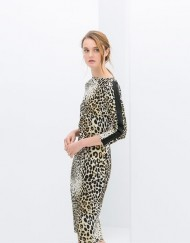 Leopard Printed Slim Fit Dress