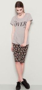 Letter Prints Casual T-shirt Tops