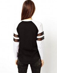 Letter Prints Long Sleeve Casual T-shirt Tops -