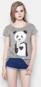 Miss Panda Prints Casual Tops T-shirt