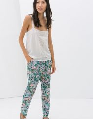 Pink Floral Printed Casual Straight Trousers ASOS Inspired Summer Loose Pa