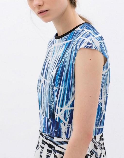 Printed Peplum T-shirt ASOS Inspired Tops -