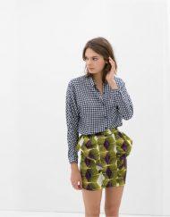 Printed Ruffle Skirt S-O