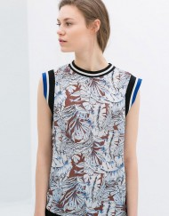 Printed T-shirt with Edging ASOS Inspired Tops -