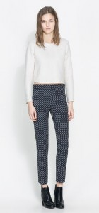 Printed Trousers with Zip -