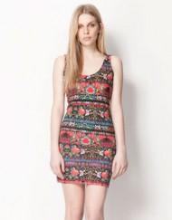 Sexy Flower Printed Tank Dress Dress