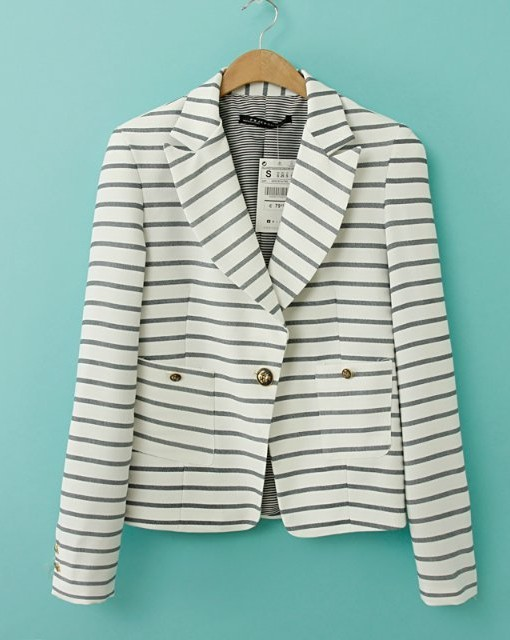 Short Striped Blazer ASOS Inspired Casual Suit BL-