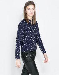 Stars Casual Pockets Blouse Shirt -