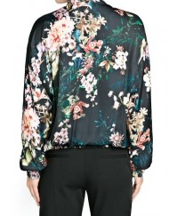 Vintage Flower Printed Leisure Zipper Bomber Jackets ASOS Inspired Coats BL-