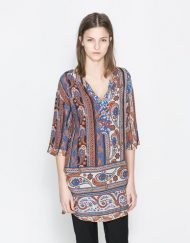 Vintage Flower Prints Casual Tunic ASOS Inspired Blouse