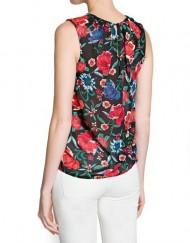 Vintage Flower Prints Chiffon Blouse Casual Shirts