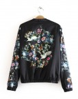 Vintage Oriental Flower prints Bomber Jackets ASOS Inspired Casual Coat BL-