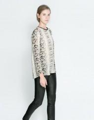Wild Snake Prints Chiffon Blouse leisure Shirt