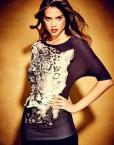Wild Tiger Prints Unregular Sweep Long T-shirt Tops -
