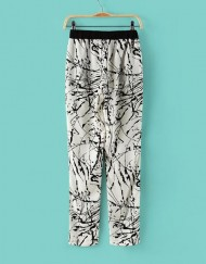 Summer  Black Ink Floral Printed Loose Fit Trousers ASOS Inspired Summer Casual Pants