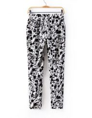 Summer  Top Shop Inspired Mickey Printed Loose Fit Harem Trousers ASOS Inspired Summer Casual Pants