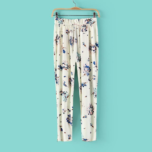 Summer  Floral Printed Loose Fit Trousers ASOS Inspired Summer Casual Pants
