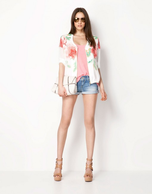 Big Flower Printed Leisure Bomber Jackets Coats BL