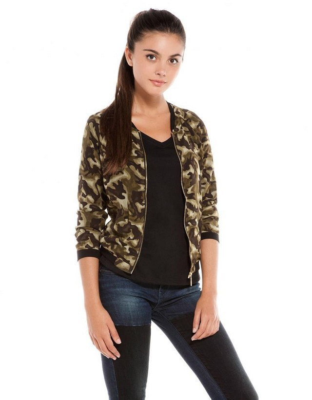 Brand Quality Camouflage printed chiffon Bomber Chiffon Jackets ASOS Inspired Coats BL