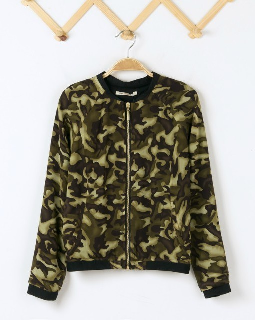 Brand Quality Camouflage printed chiffon Bomber Chiffon Jackets ASOS Inspired Coats BL