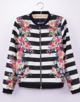 Brand Quality Striped Flower Printed Zipper Jackets ASOS Inspired Coats BL