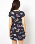 Girls Top Shop Inspired Cars Printed Casual Short-sleeves Pleated Dress ASOS Inspired Summer Dress