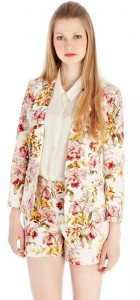 Girls Floral Prints Leisure Blazer Casual CoatSlim fit Suit BL-