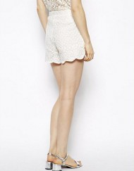 Girls Sunflower Lace Casual Shorts with Waving Edge Pants TW-