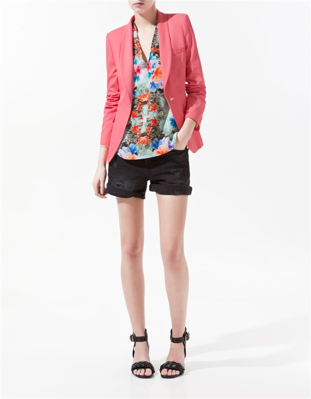 Candy Color One-Button Blazer Casual Suits Coat BL