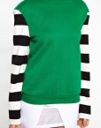 Striped Leisure Sweatshirts Pullovers -