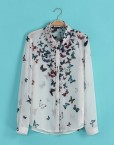 ASOS Inspired Colorful Butterfly Prints Blouses Sweet Shirt