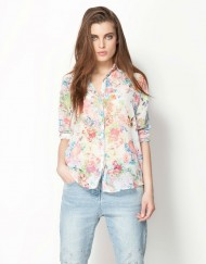 ASOS Inspired Floral Prints Casual Chiffon Blouse Shirts