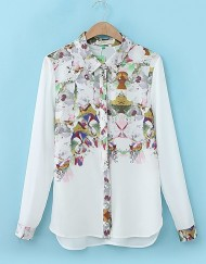 ASOS Inspired Locating Flower Prints Casual Blouse Leisure Shirt
