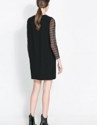 ASOS Inspired Sexy Lace Sleeves Straight Dress