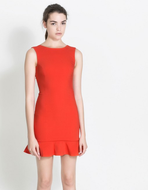 ASOS Inspired Sexy Tube Dress with Ruffle Hem