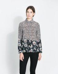 ASOS Inspired Vintage Floral Pattern Casual Chiffon Blouse Shirts -