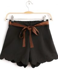 Girls Shorts Chiffon Pants with Sashes