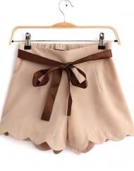 Girls Shorts Chiffon Pants with Sashes