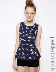 Casual Birds Prints Sleeveless Ruffle Tank Tops