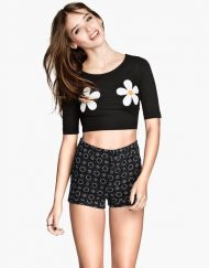 Casual Chrysanthemum Printed T-shirts Short SleevesTops