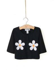 Casual Chrysanthemum Printed T-shirts Short SleevesTops