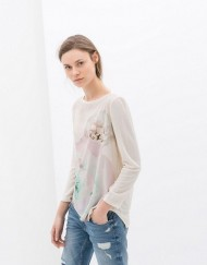 Casual Floral Prints T-shirts Woman Tops