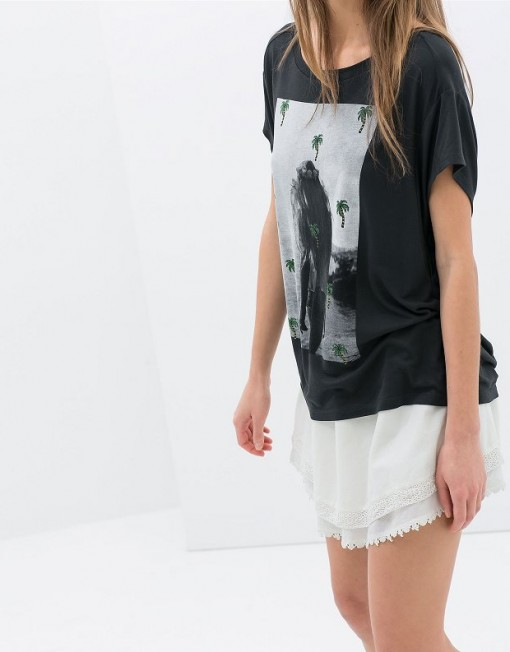 ASOS Inspired Casual Beauty Coconut Trees Printed T-shirts Butterfly SleevesTops