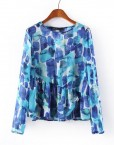ASOS Inspired Casual Sapphire Prints Full Sleeve Chiffon Blouse