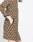 ASOS Inspired Color Dots Prints Leather Combined Long Sleeves Dress DRB
